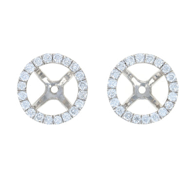 .42ctw Diamond Earring Enhancer Jackets White Gold
