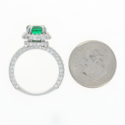 1.84ct Emerald & Diamond Ring
