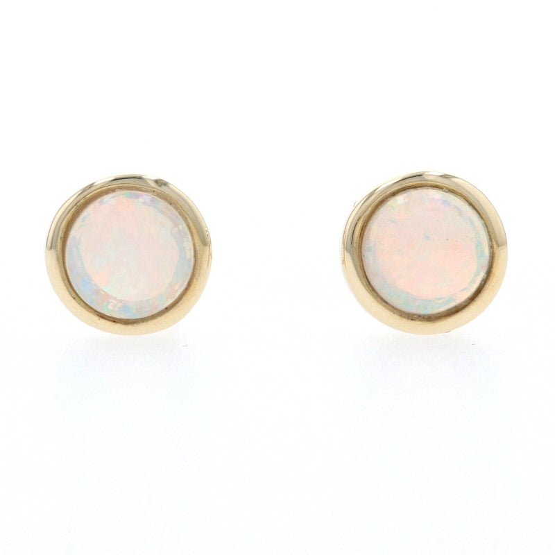 .51ctw Opal Earrings Yellow Gold