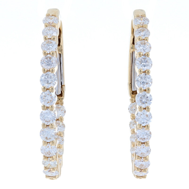 1.50ctw Diamond Earrings Yellow Gold