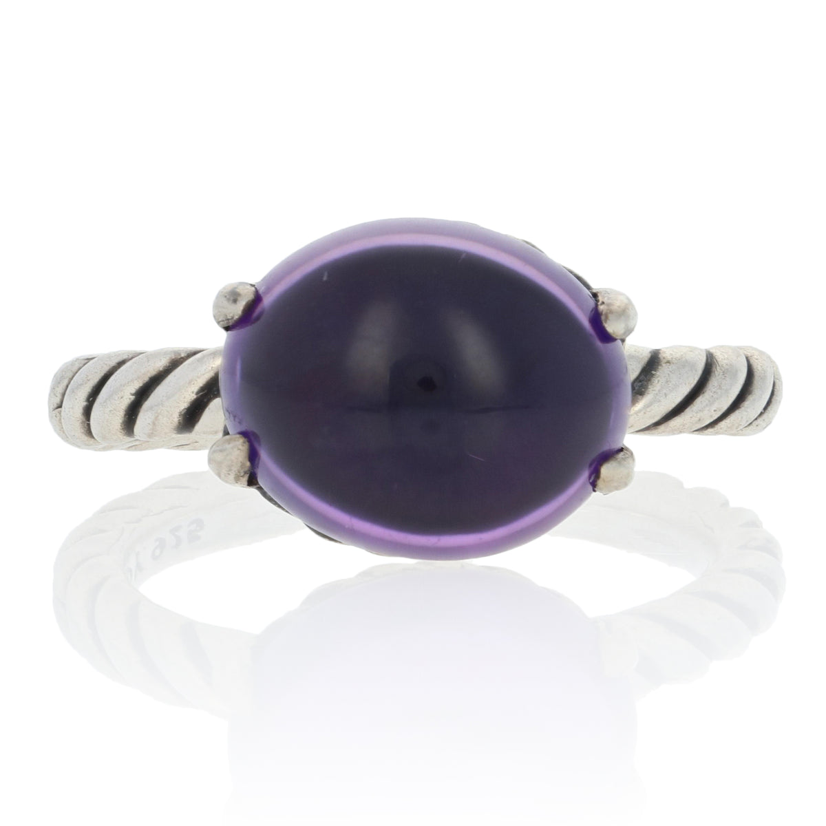 David Yurman Color Classics Amethyst Ring Sterling Silver
