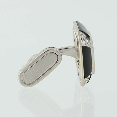 Kwiat Onyx, Mother of Pearl, & Diamond Cufflinks White Gold