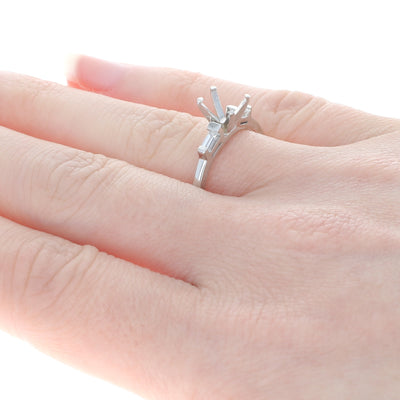 Semi-Mount Engagement Ring Platinum