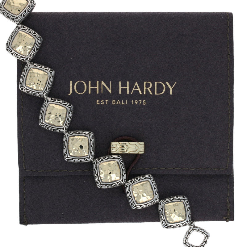 John Hardy Classic Chain Bracelet Sterling Silver & Yellow Gold