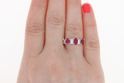 Ruby & Diamond Ring  3.78ctw