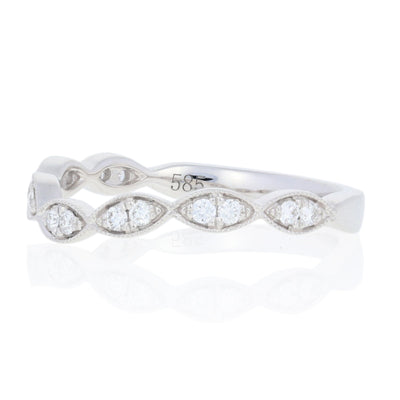 Diamond Contoured Wedding Band