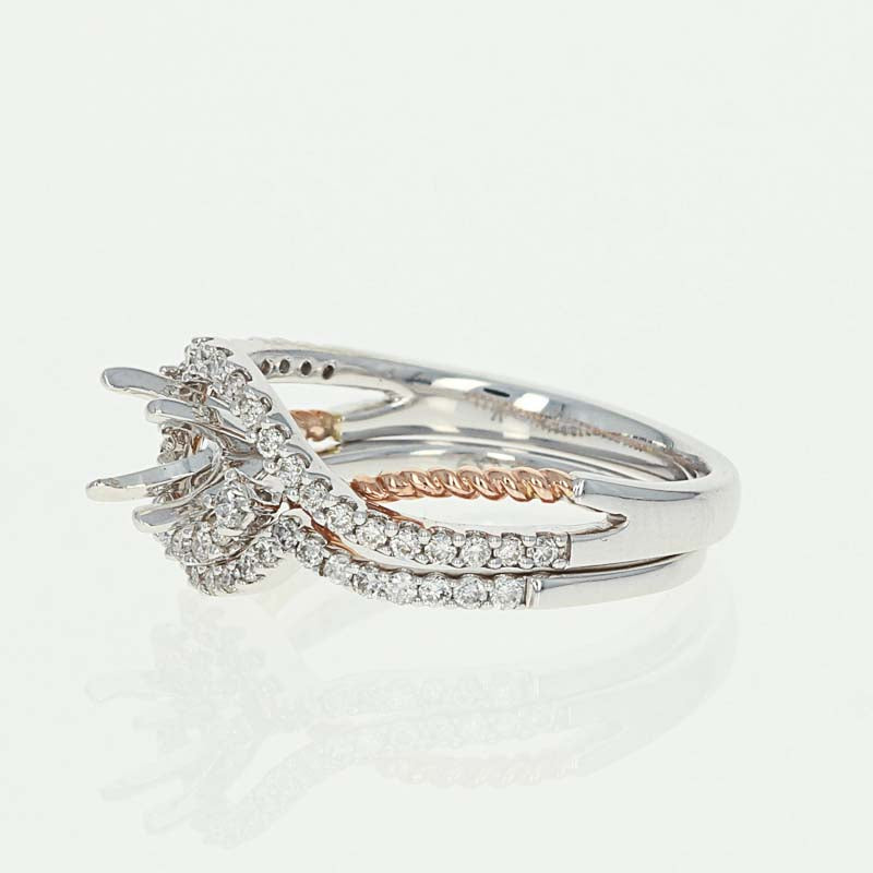 Semi-Mount Engagement Ring & Wedding Band  .37ctw