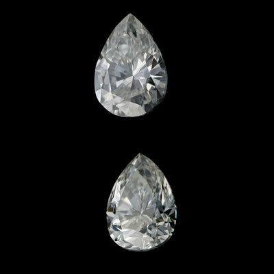 .71ctw Set of 2 Loose Diamonds Pear
