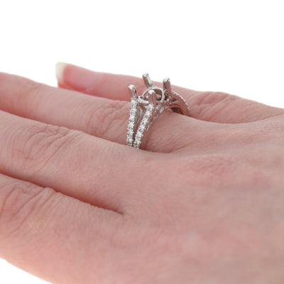 Semi-Mount Split Shank Engagement Ring .36ctw
