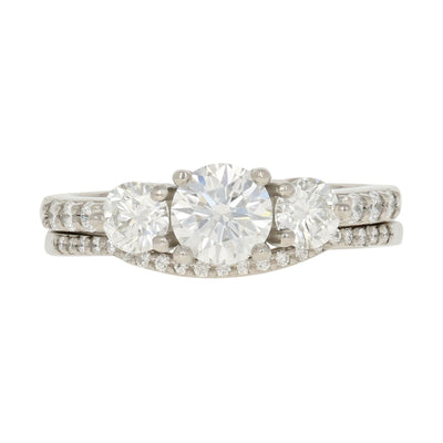 Diamond Engagement Ring & Wedding Band