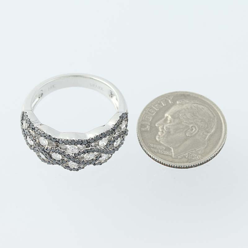 Black & White Diamond Band Ring .93ctw