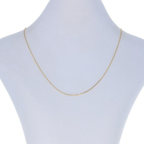 Diamond Cut Cable Necklace Yellow Gold
