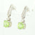 Peridot & Diamond Drop Earrings 2.28ctw