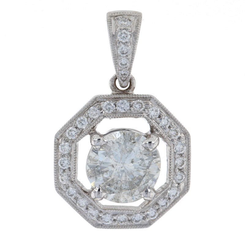 1.80ctw Diamond Pendant White Gold