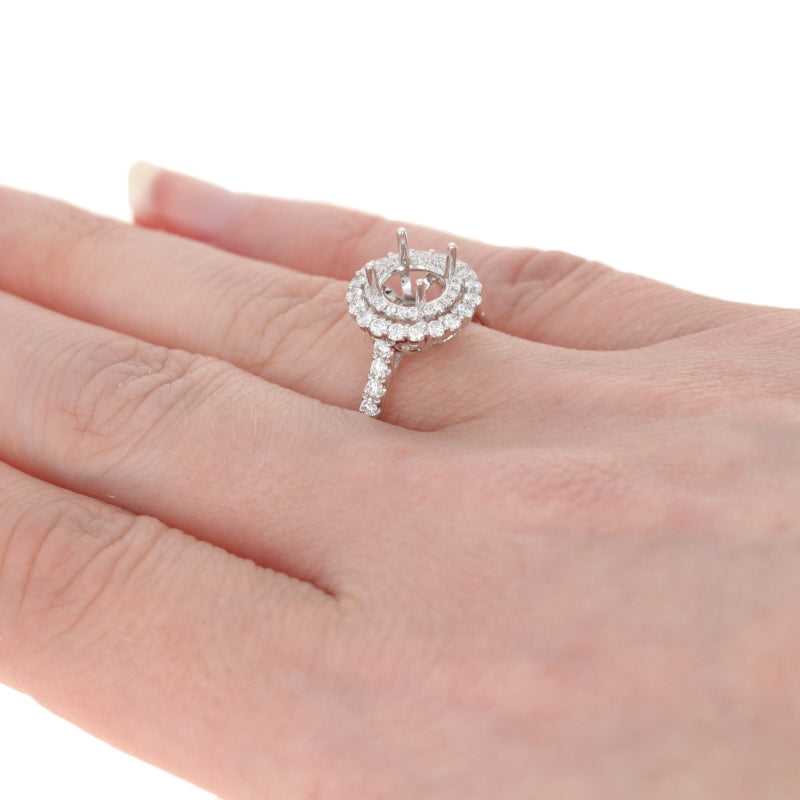 Semi-Mount Double Halo Engagement Ring