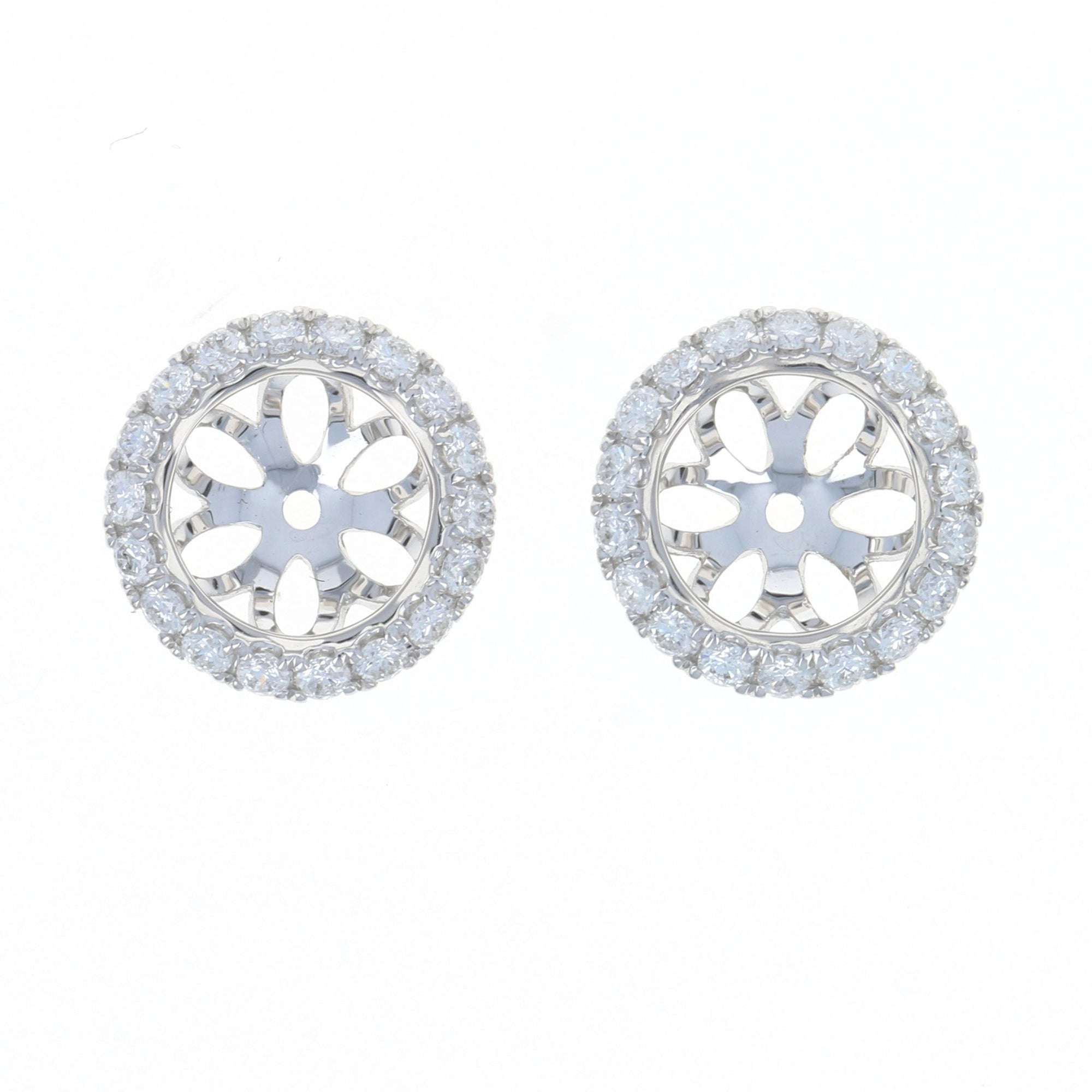 .41ctw Diamond Halo Earring Enhancer Stud Jackets White Gold