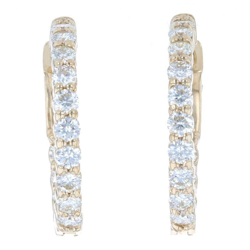 1.47ctw Diamond Earrings Yellow Gold