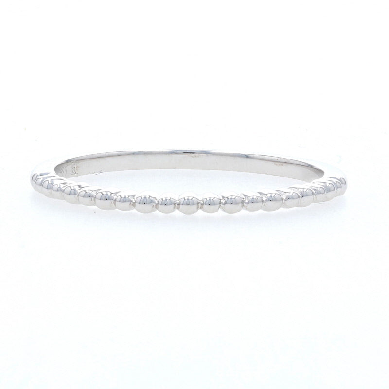 Bead Work Ring White Gold