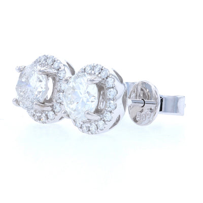 1.20ctw Diamond Earrings White Gold