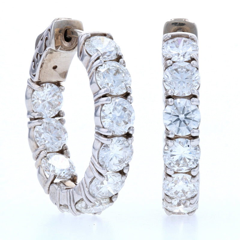 5.21ctw Diamond Earrings White Gold