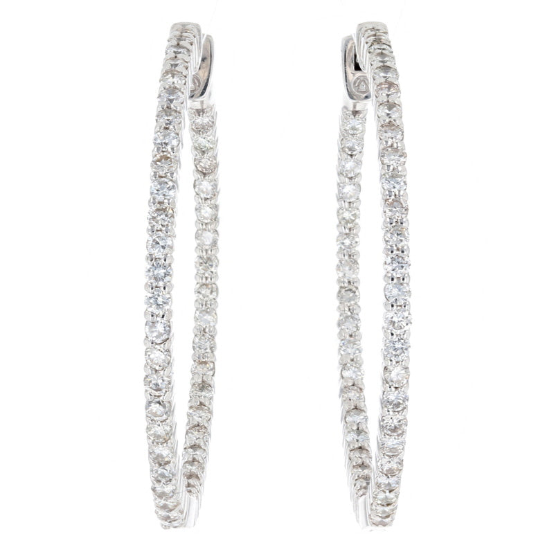 1.75ctw Diamond Earrings White Gold