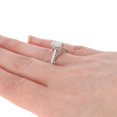 1.42ctw Oval Diamond Engagement Ring