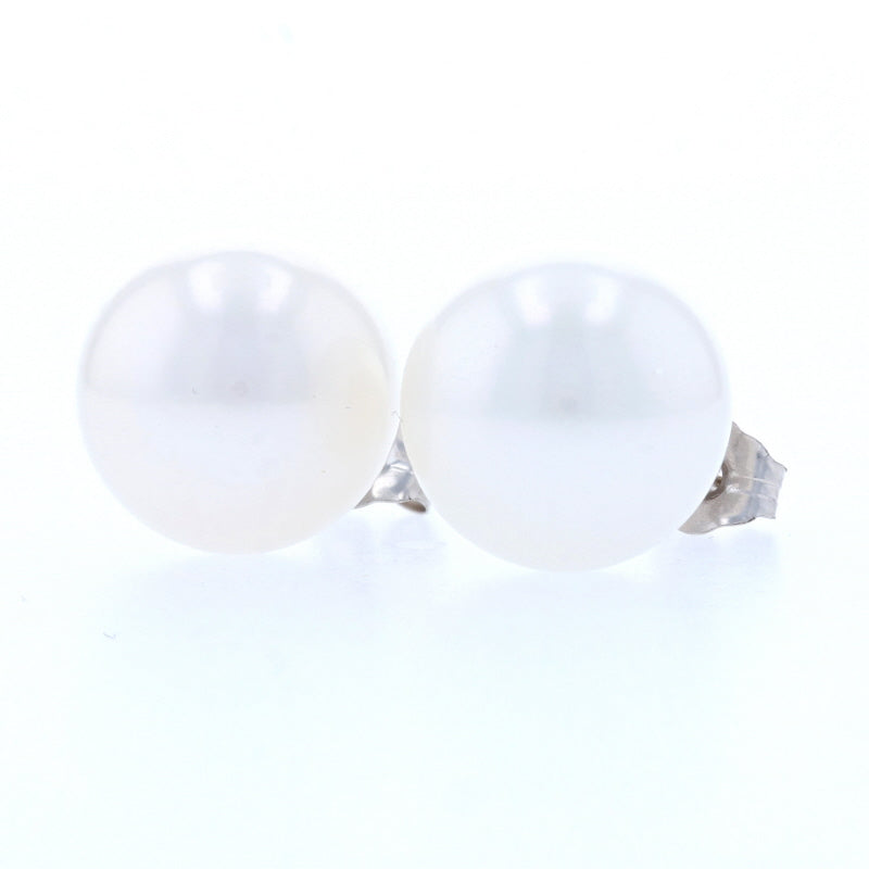 10.5-11mm Akoya Pearl Earrings White Gold