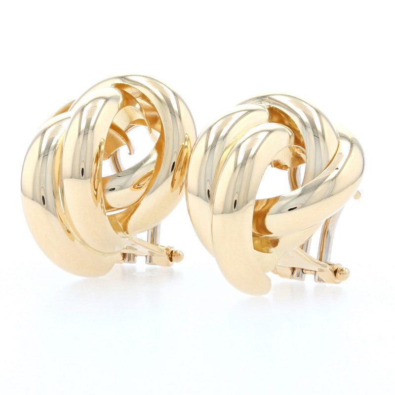 Knot Stud Earrings Yellow Gold