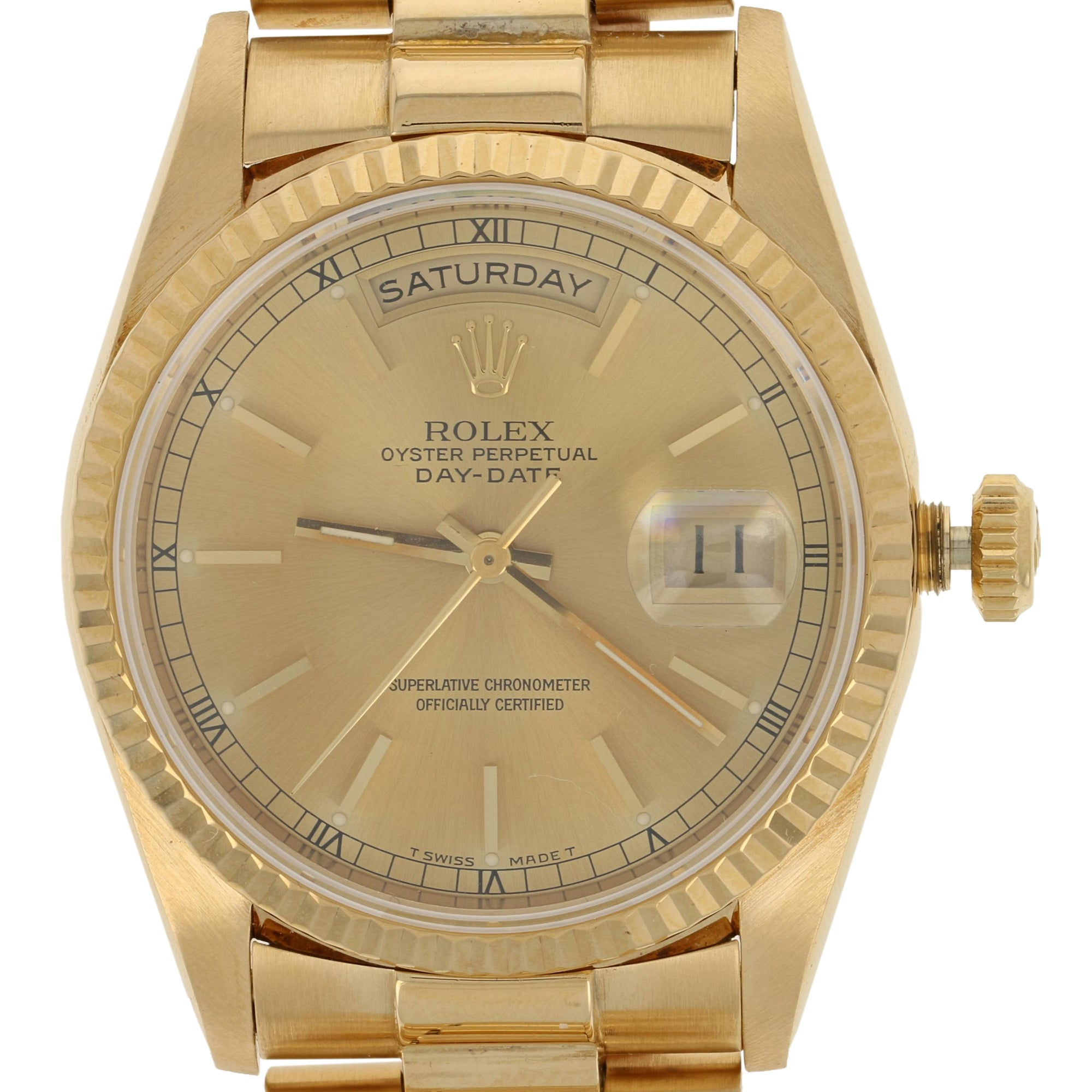 Rolex Oyster President Day-Date Men's Watch Yellow Gold 18238