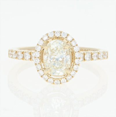 Oval Halo Diamond Engagement Ring 1.47ctw