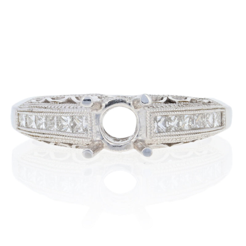 Semi-Mount Diamond Accented Engagement Ring