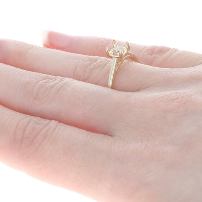 Semi-Mount Solitaire Ring Yellow Gold