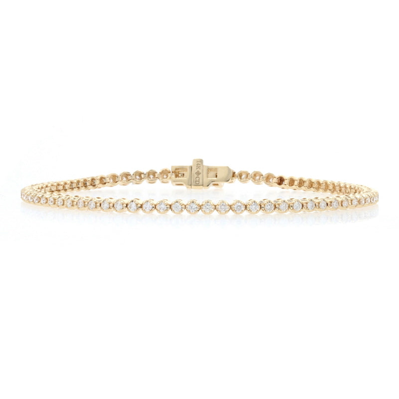 1.00ctw Diamond Bracelet Yellow Gold