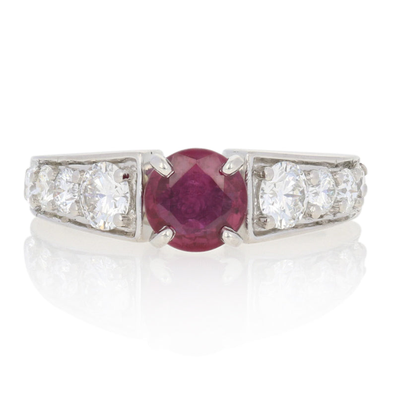 1.20ct Ruby & Diamond Ring