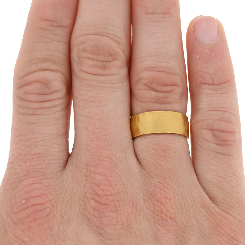 24k Yellow Gold Wedding Ring