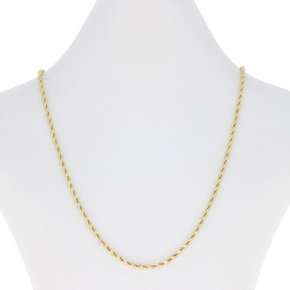 Rope Chain Necklace Yellow Gold