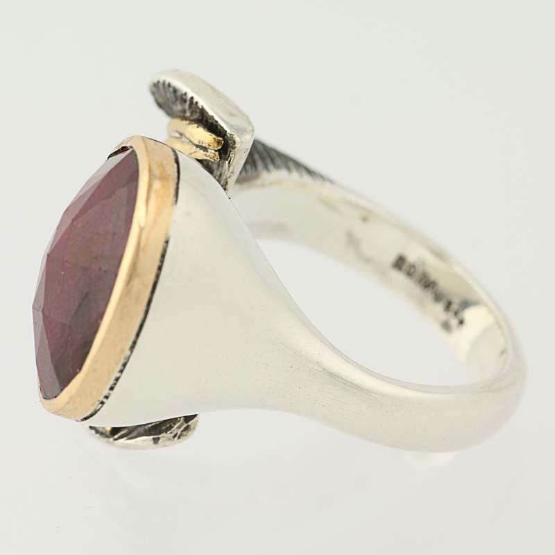 Bora Ring Sterling Silver Ruby Ring