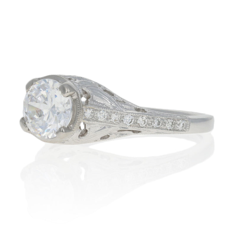 Semi-Mount Engagement Ring White Gold