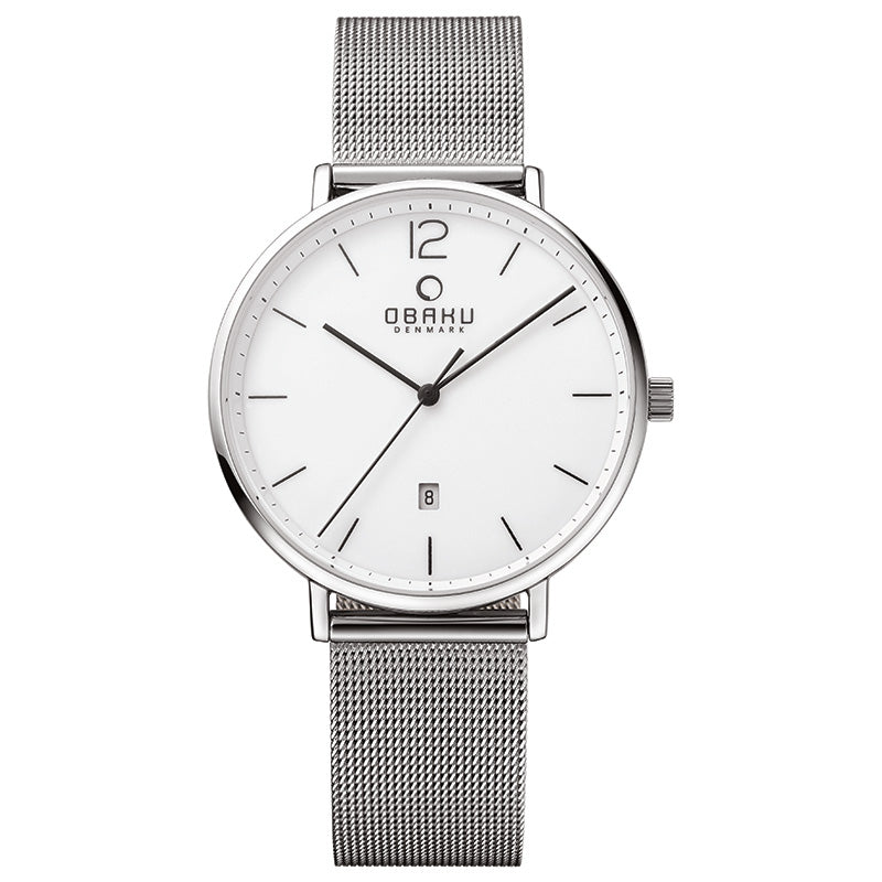 Obaku Toft Steel Men's 40mm Ceramic Dial Watch V181GDCWMC