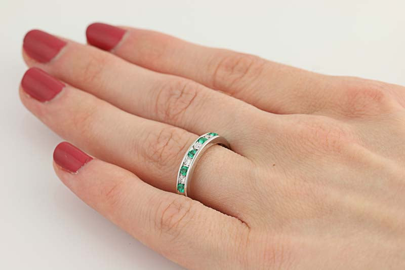 Emerald & Diamond Ring .50ctw