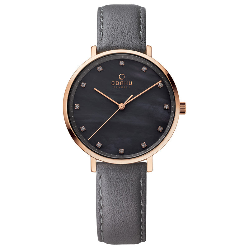 Obaku Vest Pebble Ladies Mother of Pearl Watch V186LXVJRJ