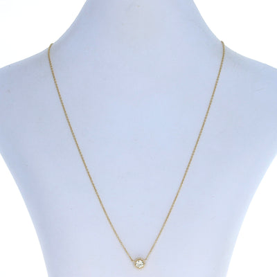 .56ctw Diamond Reversible Halo Necklace Yellow Gold