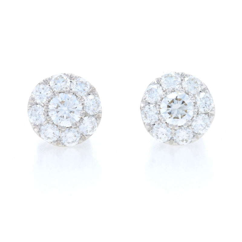 .75ctw Diamond Earrings White Gold