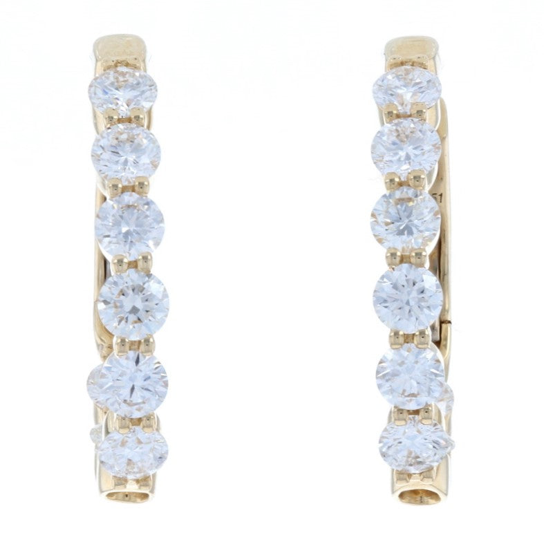 1.51ctw Diamond Earrings Yellow Gold