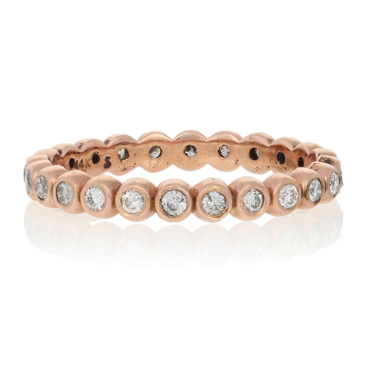 .44ctw Diamond Eternity Ring Rose Gold