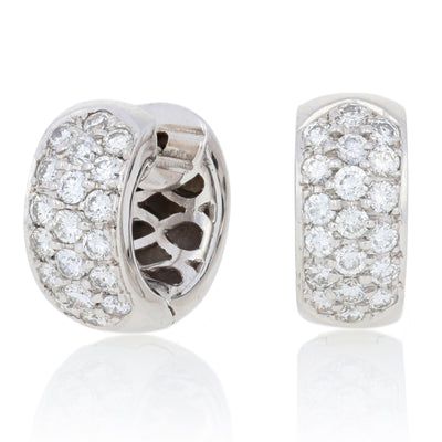 1.28ctw Diamond Earrings White Gold