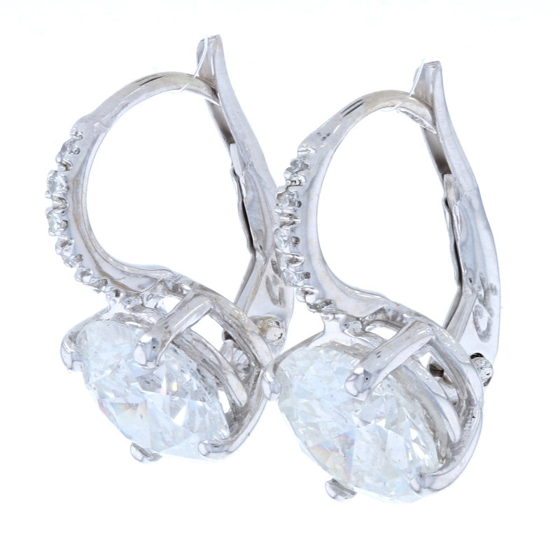 3.48ctw Diamond Earrings White Gold