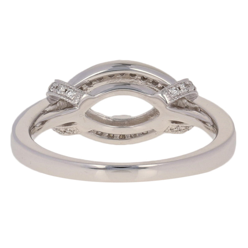 Semi-Mount  Marquise Halo Ring  .29ctw