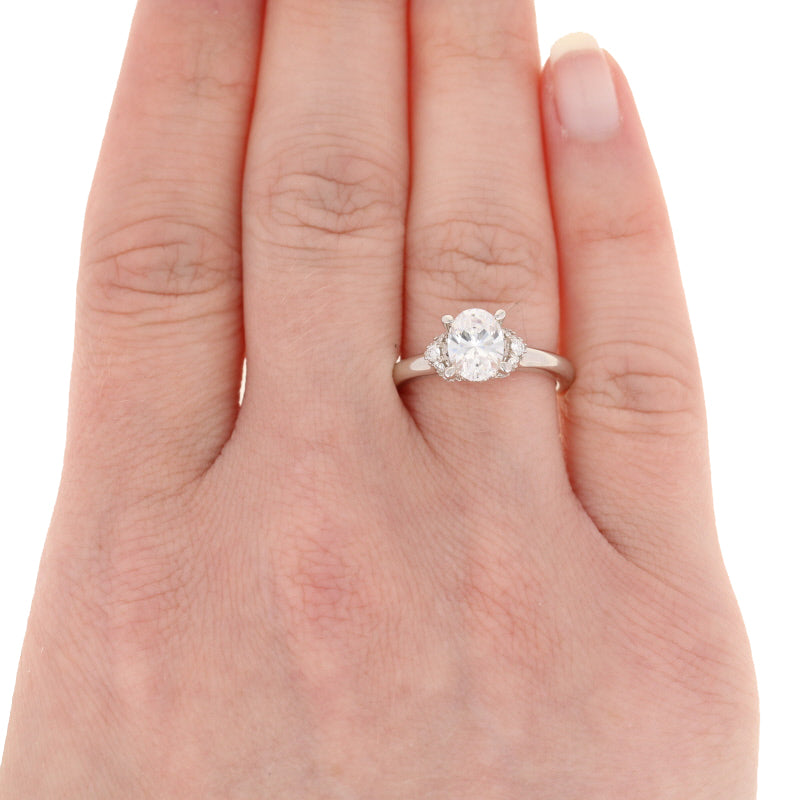 Scott Kay Oval Semi-Mount Engagement Ring
