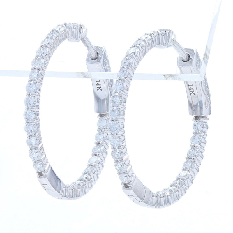 1.06ctw Diamond Earrings White Gold